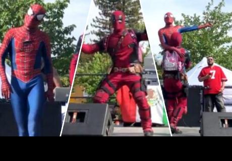 'Spiderman' y 'Deadpool' hacen reír a todos con su particular coreografía