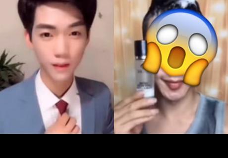 Chico asiático se lava la cara y su rostro sin maquillaje asusta a todos