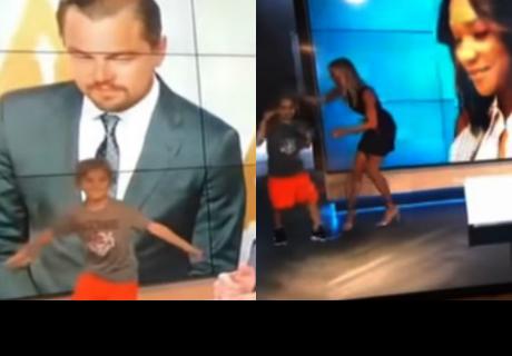 Hijo de conductora de TV interrumpe programa en vivo