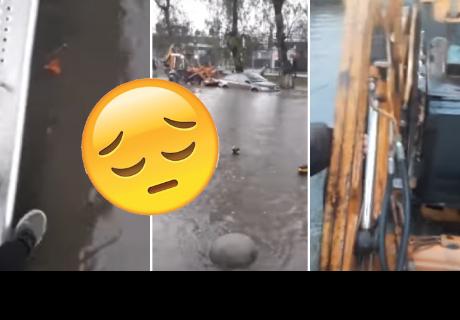 Joven se quedó solo en medio de inundación, pero sucedió un 'milagro'