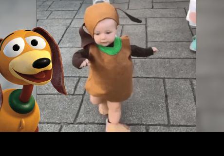 Niñas disfrazadas de 'Slinky' de Toy Story se robaron el corazón de todos en la red