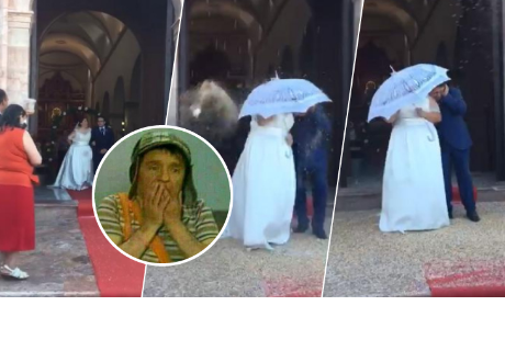 Recién casados salían de la iglesia, pero invitados arruinaron el 'mágico' momento