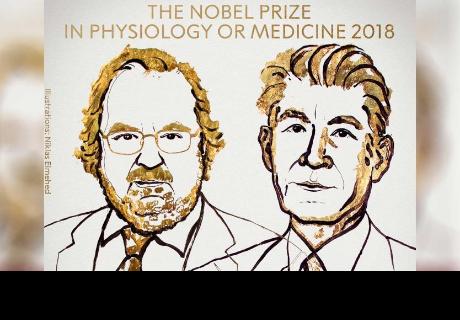 Descubren milagroso tratamiento contra el cáncer y ganan Premio Nobel de Medicina.