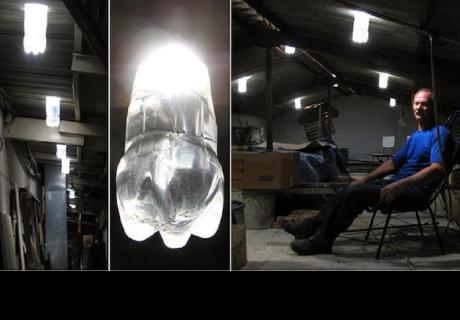 Cómo convertir botellas de plástico PET en eficaces lámparas