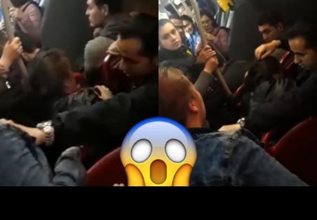 Encuentra a su esposo con la 'otra'  en un autobús y esta fue su violenta reacción