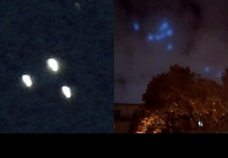 ¿OVNIS? Extrañas luces azules invaden el cielo de Rusia y  desconciertan a internautas