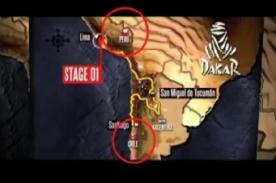 Dakar 2013: Confusión entre banderas de Perú y Chile - Video
