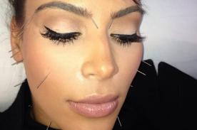 Kim Kardashian elimina el estrés del divorcio con la acupuntura