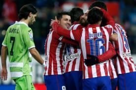 Atlético Madrid venció 1-0 a Málaga y se ubica como líder en la Liga BBVA