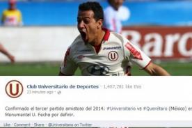 Universitario confirmó partido amistoso ante Querétaro de México