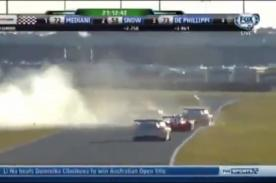 Video: Brutal choque entre un Corvette y Ferrari en 24 Horas de Daitona