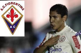 Universitario de Deportes jugaría amistoso contra Fiorentina de Italia