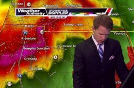 Meteorólogo huye de programa en vivo por alerta de tornado - VIDEO