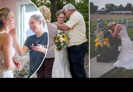 Su novio falleció días antes de su matrimonio y ella decide homenajearlo así