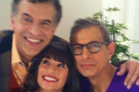 Glee: Lea Michele publicó imagen junto a sus padres gays en la serie