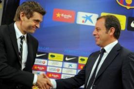 Fútbol español: Tito Vilanova fue presentado como nuevo DT del Barcelona
