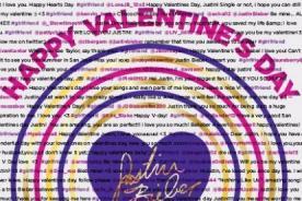 San Valentín: Detrás de cámaras de tarjeta para Justin Bieber