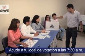 ONPE: Conoce las tareas de los miembros de mesa (Video)