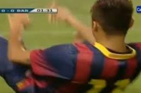Barcelona: Portero de Tailandia tumba a Neymar de un pelotazo - Video