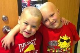 Estados Unidos: Niño asombra a su compañero con cáncer