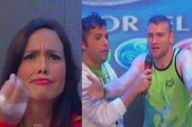 Combate: Vicenzo le faltó el respeto a Paloma Fiuza en vivo
