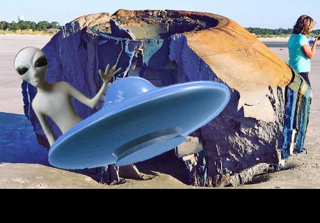 Hallan un extraño objeto de apariencia 'alienígena' en una playa en EE.UU