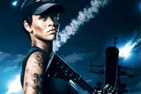 Rihanna confiesa que no entrenó para usar armas en Battleship