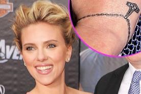 Scarlett Johansson luce nuevo tatuaje en su muñeca