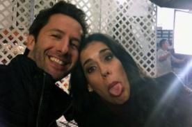 Foto: Gianella Neyra contenta de grabar spot junto a Marco Zunino