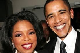 Barack Obama y Oprah Winfrey a los pies de Katy Perry