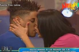 Bienvenida la tarde: Katy García y Erick Varías se besan en vivo - Video