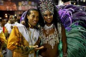 Carnaval de Brasil: Ronaldinho perdió palco vip por falta de pagos