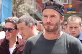 David Beckham jugó 'pichanga' con niños en barrio de Argentina - VIDEO