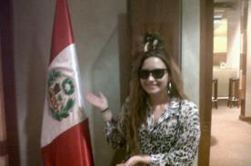 Demi Lovato en Lima: Cantante se luce con la bandera peruana