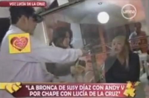 Video: Susy Díaz enfrenta a Andy V por fotos ampay con Lucía de la Cruz
