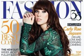 Carly Rae Jepsen sorprende con refinados atuendos en revista Fashion