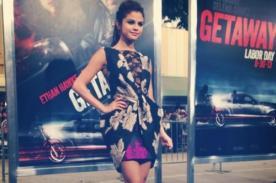 Selena Gomez imita a Miley Cyrus en premiere de 'Getaway' - Foto