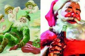 ¿Sabias que el Papa Noel original era verde y no rojo?