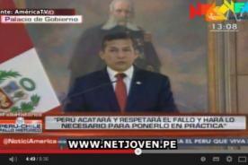 Humala tras fallo: El Perú se siente complacido con esta opción de paz