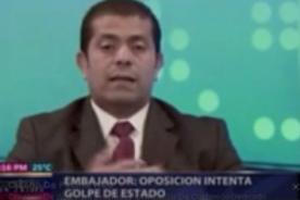Video: Embajador de Venezuela arma discusión en TV de República Dominicana