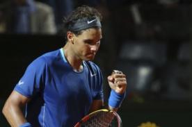 Rafael Nadal imbatible en Torneo Masters 1000 de Roma