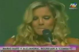 Alejandra Baigorria se quiebra tras regresar a Combate - Video