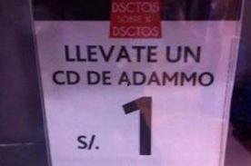¿Discos de Ádammo también se ofertan a un nuevo sol como Diego Dibós? [Foto]