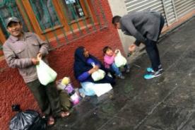 Kalimba compartió la Navidad con personas desamparadas en las calles de Lima [Fotos]