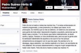 ¿Metió la pata? Pedro Suárez Vértiz criticado por este mensaje del Día de la madre