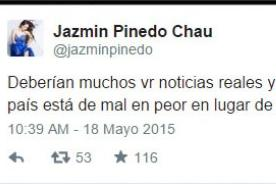Arremeten contra Jazmín Pinedo por criticar 'tanta tontería' en la TV