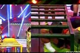 Bienvenida la tarde: Erick Varías se disloca el hombro en pleno programa [VIDEO]