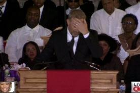 Kevin Costner contuvo lágrimas en funeral de Whitney Houston