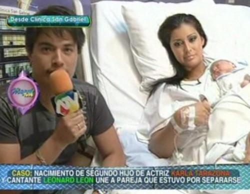 Video: Karla Tarazona dio a luz a su segundo hijo