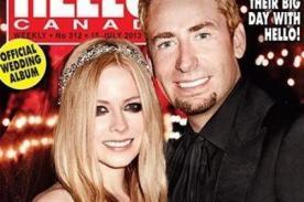 Avril Lavigne y Chad Kroeger se lucen recién casados - Foto